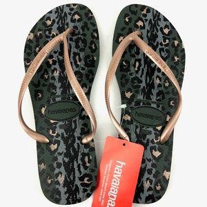 Havaianas Shoes - Havaianas Slim Animal Flip Flops Sandals Sz 11/12